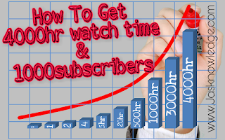 4000 hour watch time aur 1000 subscribers kaise paye
