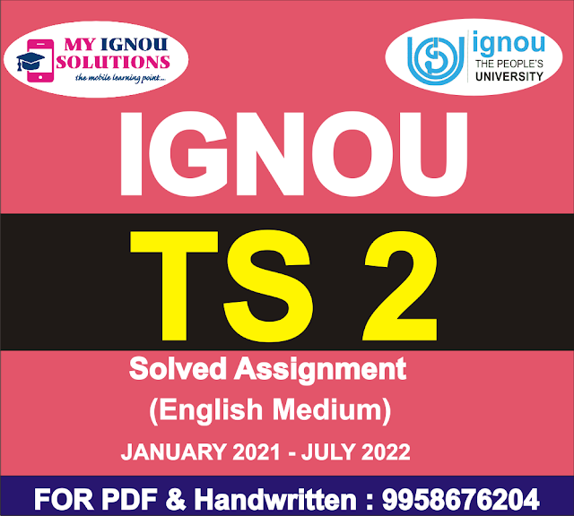 TS 2 Solved Assignment 2021-22