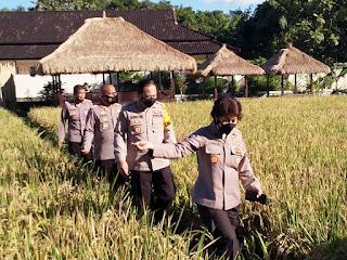 Posko PPKM mikro Kel. Dasan Cermen Kota Mataram Dikunjungi Tim Korbinmas Baharkam Polri.