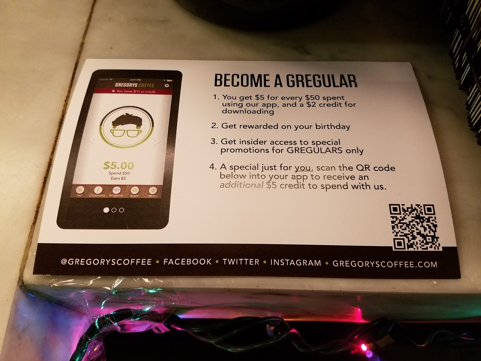 Terresas steals and deals free 12 oz beverage from gregorys download their new app to earn sweet rewards on coffee and more fandeluxe Image collections