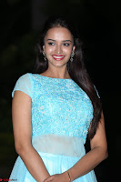 Pujita Ponnada in transparent sky blue dress at Darshakudu pre release ~  Exclusive Celebrities Galleries 101.JPG