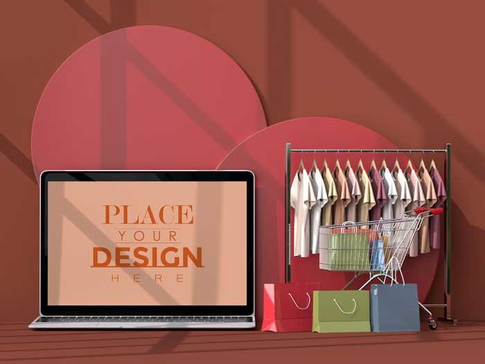 Online Shopping PSD Mockup V-5