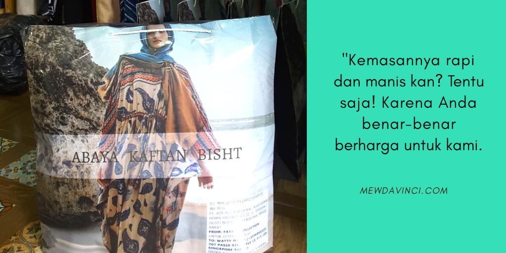 Kemasan paket dari Butik Fataya Collection