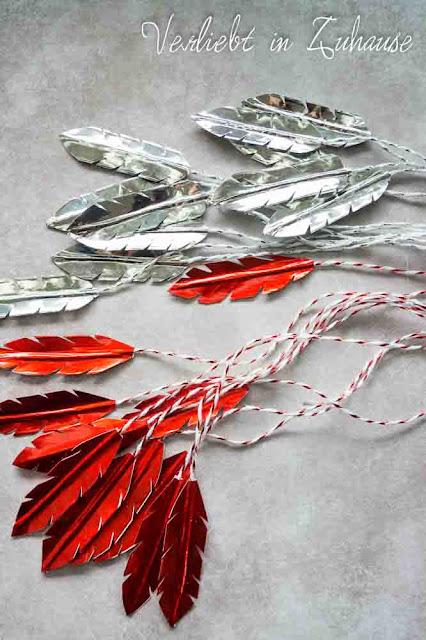 DIY: Klitzkleine Anleitung wie du aus Masking Tape selber Federn basteln kannst.