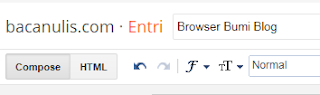 Browser Bumi Blog