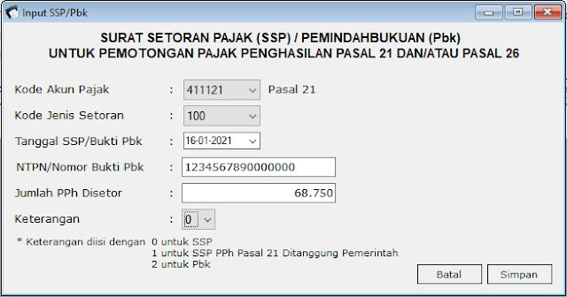 perekaman ssp pph 21