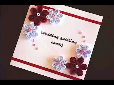 Wedding quilling card designs 2015 online - quillingpaperdesigns