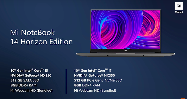 Xiaomi Mi NoteBook (Laptop) Launched In Indian with 14inch FHD Display, 10th Generation Processor & More