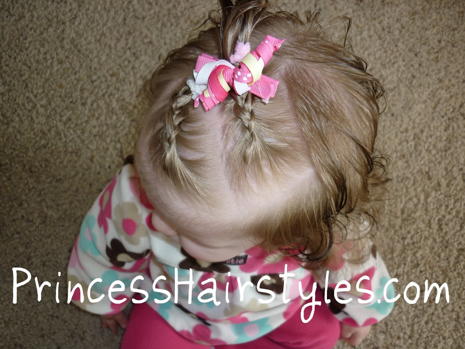 Hairstyles Girl Babies: Tiny French Braids