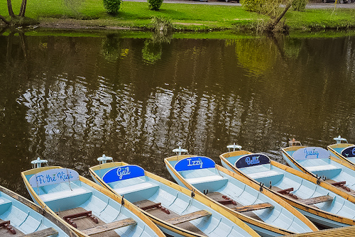 Things to do in Knaresborough - boats on River Nidd