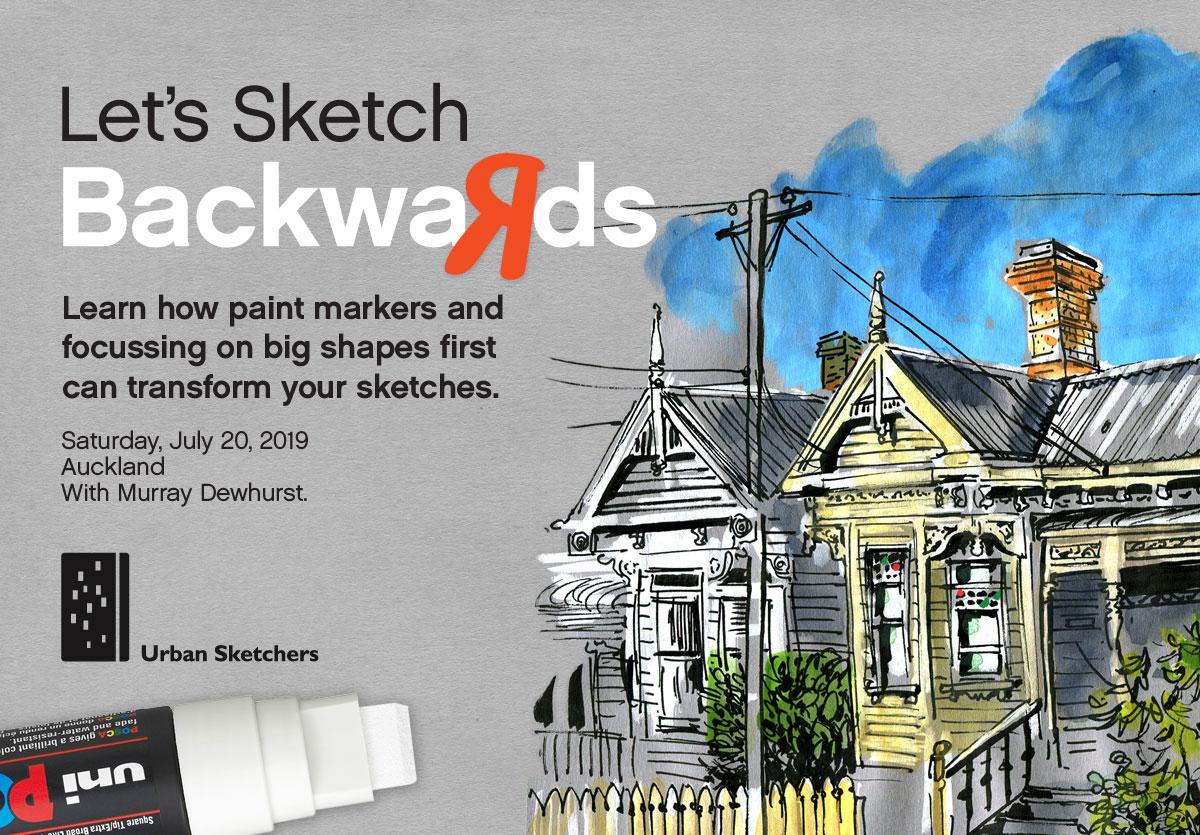 USk Workshop: Let's Sketch Backwards | Urban Sketchers
