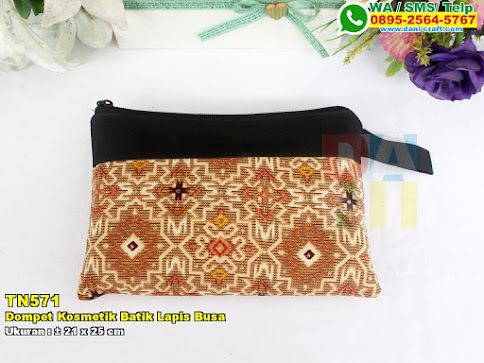 Dompet Kosmetik Batik Lapis Busa