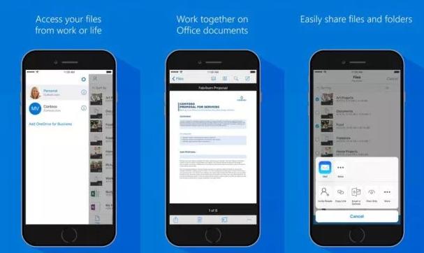 تحديث تطبيق OneDrive مع دمج Office Lens على iOS