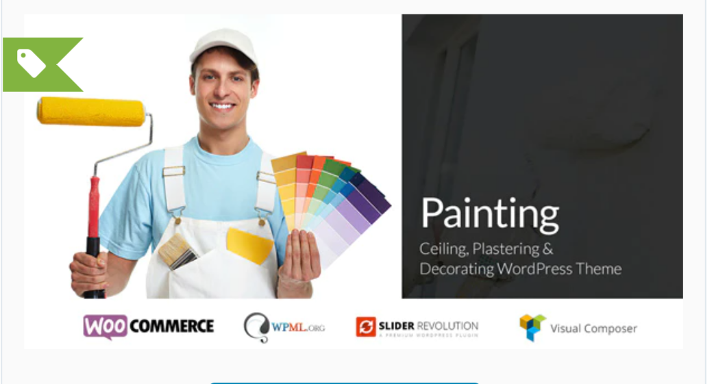 Painting - Ceiling & Decorating WordPress Theme Also for Construction companies, Engineering, Electronics, Auto shop markets, Carpenter workshops, Gardeners, Logistics, Decor, Cleaning agencies, Mechanic workshops, Plumbers, Maintenance services, Electricity and Power Companies, Renovation business, Architecture, Metal Construction companies, Mining services etc