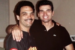 Joey Votto with his father who passed away at 52