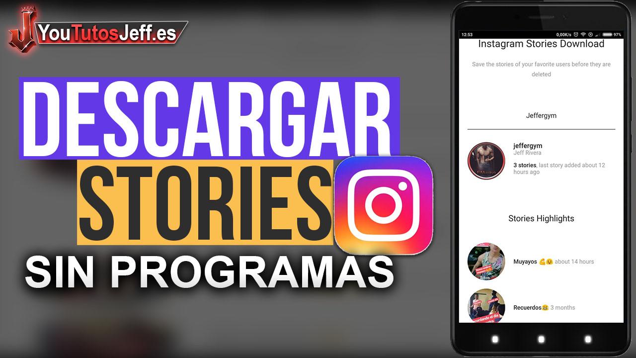 Como Descargar Stories de Instagram SIN PROGRAMAS - Fácil y Rápido