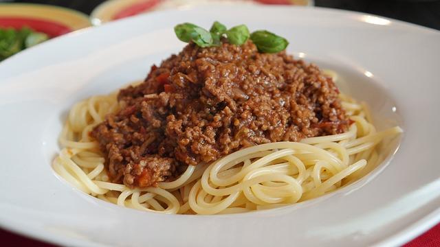 Spaghetti à la viande hachée