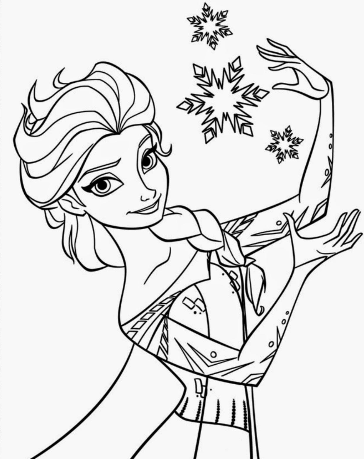 Desenhos Para Pintar Do Frozen