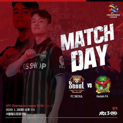 Live Streaming Kedah vs Seoul FC 28.1.2020.