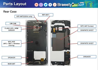 Samsung mobile diagram smart phone pcb repairing