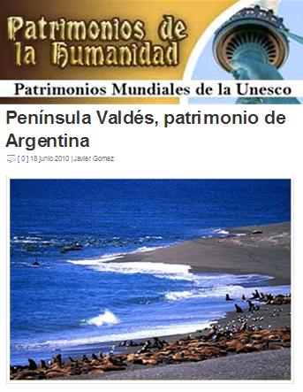 peninsula Valdes patrimonio de la humanidad