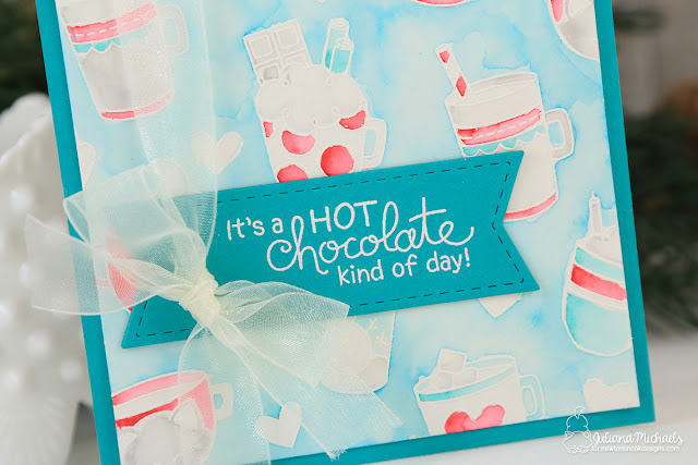 Hot Chocolate Kind Of Day Card by Juliana Michaels featuring Newton's Nook Designs Cup of Cocoa Stamp Set