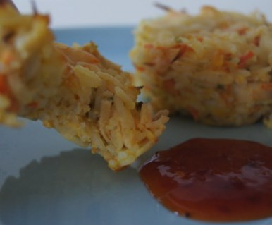 Chicken and Rice Patties #appetizers #lunch