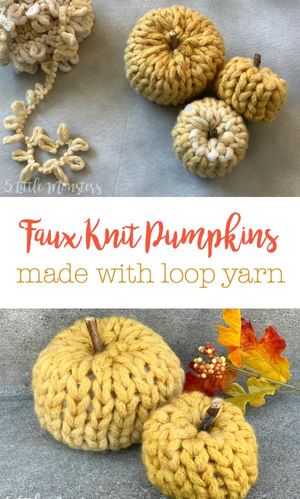 5 Little Monsters: Loop Yarn Pumpkins