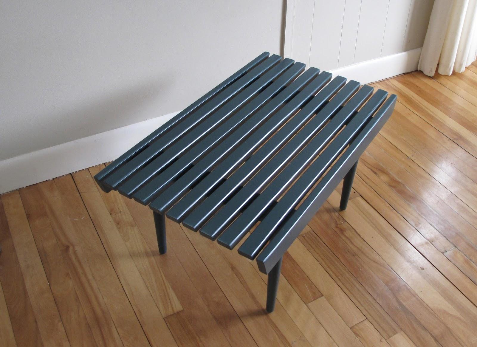 Slatted Coffee Table Blue Lamb Furnishings 30 Mcm Slat Bench Coffee Table 185