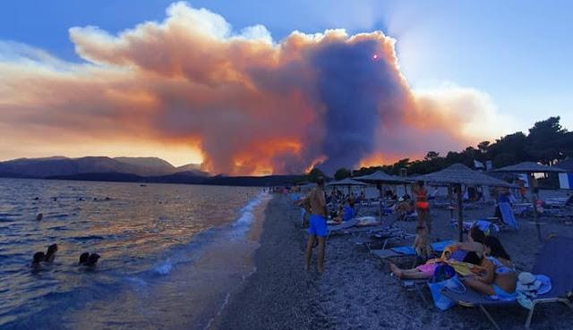 Νύχτα κόλαση στη Μάνη - Καλύτερη η εικόνα σήμερα το πρωί - Από το διάστημα φαίνεται η πυρκαγιά