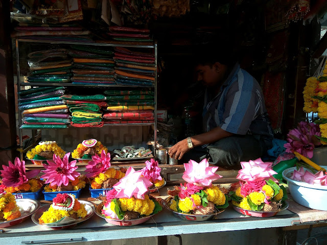 offerings, sale, lotus, mahalakshmi, goddess, saree, mumbai, incredible india, marigold garlands, incense sticks, bangles,