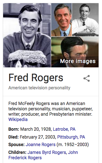 21 74 77 227 The Death Of Fred Rogers Mister Rogers February 27 2003 Info Today