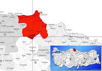 Saraydüzü ilçesinin nerede olduğunu gösteren harita.