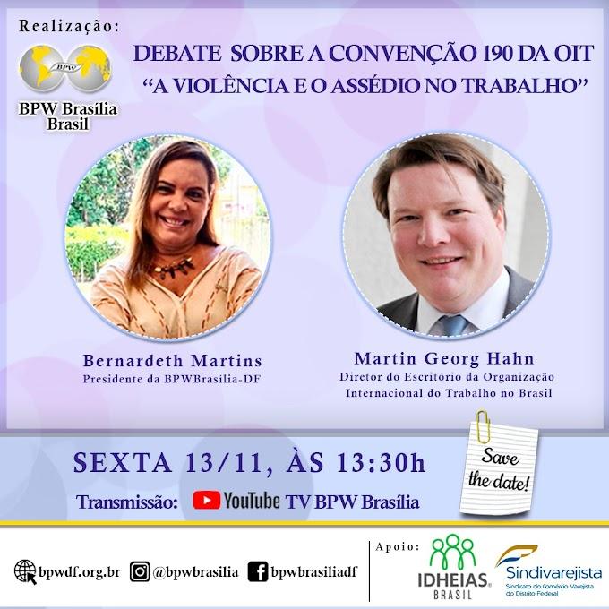 Violência e Assédio no Trabalho é tema de debate realizado pela BPW Brasília-DF