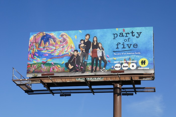 Party of Five Freeform series billboard
