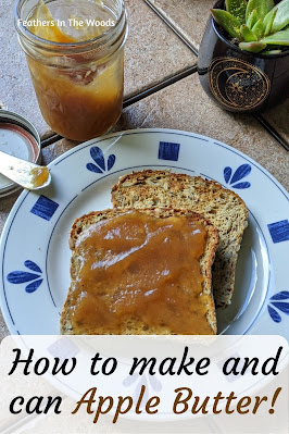 Apple butter, homemade on toast