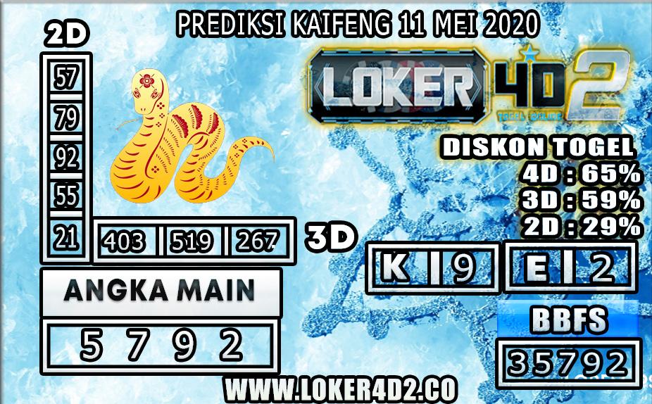 PREDIKSI TOGEL KAIFENG LOKER4D2 11 MEI 2020