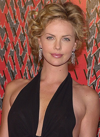 Charlize Theron Short Blonde Curly Bob Hairstyles