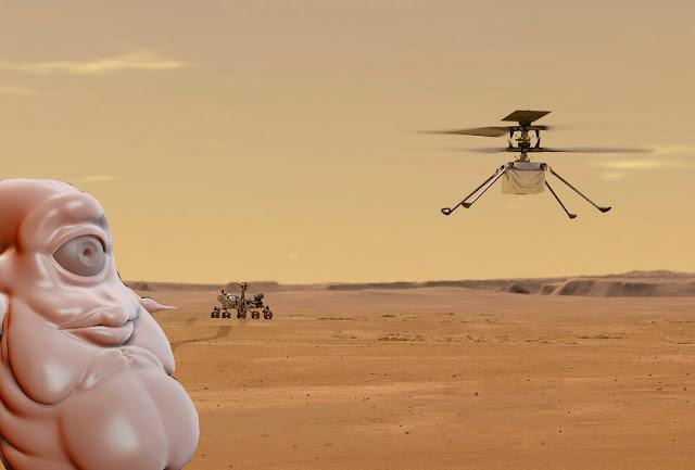 Ingenuity Helicopter Alien