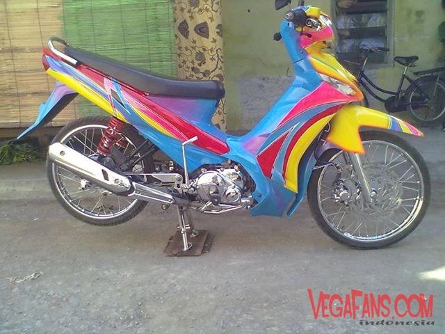 Modifikasi Vega ZR Ala Motor Kontes Standar