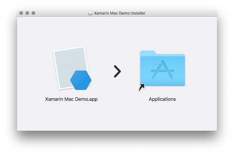 Xamarin Mac app bundled in dmg
