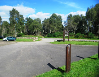 Car park at Muir of Dinnet