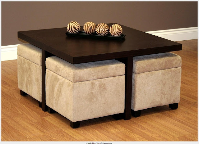 Download Coffee Table With Stools Pic