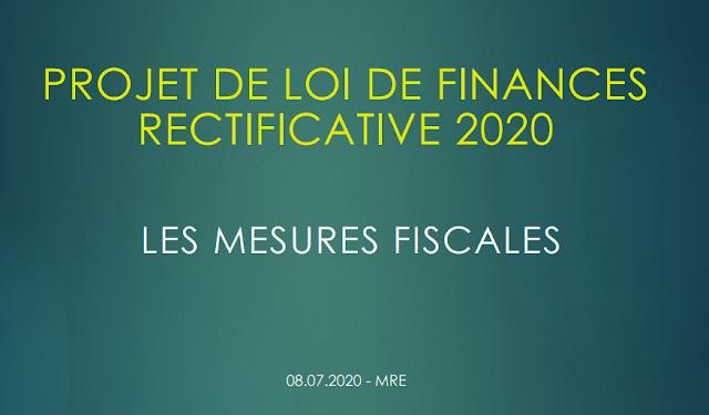 PROJET DE LOI DE FINANCES RECTIFICATIVE 2020
