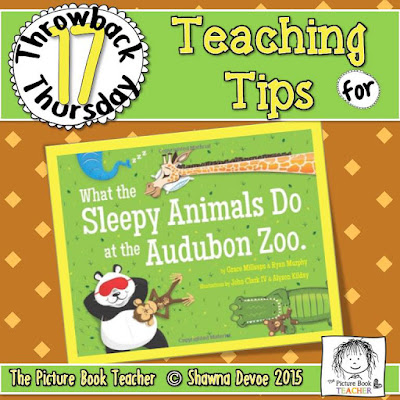 What Sleepy Animals Do at the Audobon Zoo Teaching Tips - TBT