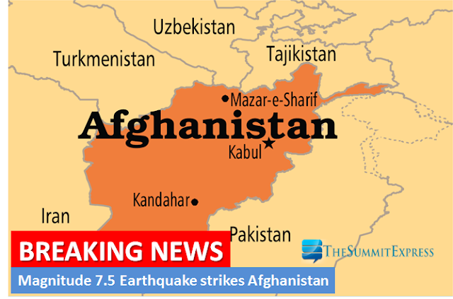 Magnitude 7.5 earthquake hits Afghanistan, Southern Asia