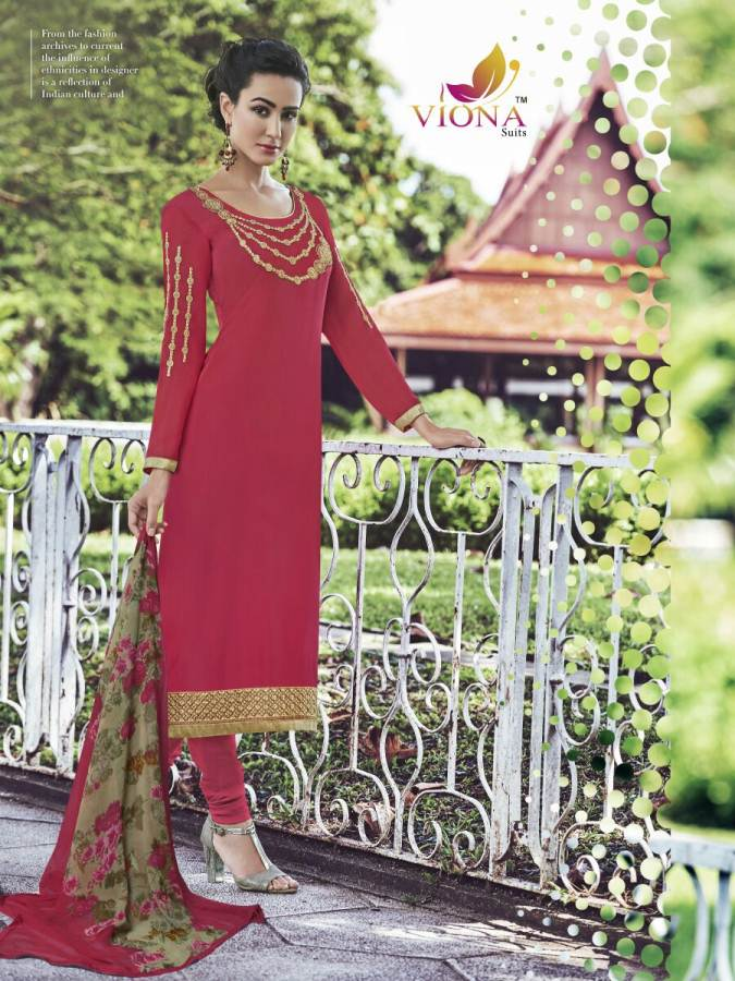 Samaira 2 – Heavy French Crape With Embroidery Dress Material