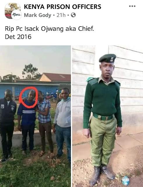 Seth Isaac Ojwang, a prison officer dies photo
