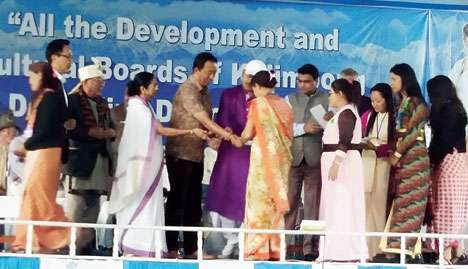 Mamata at the public meeting near Kalimpong