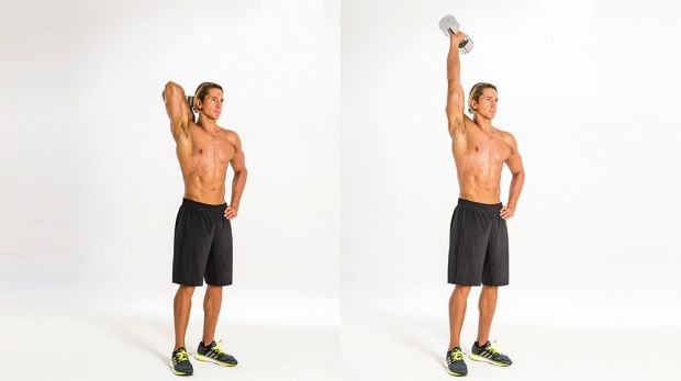 1B Triceps extension: